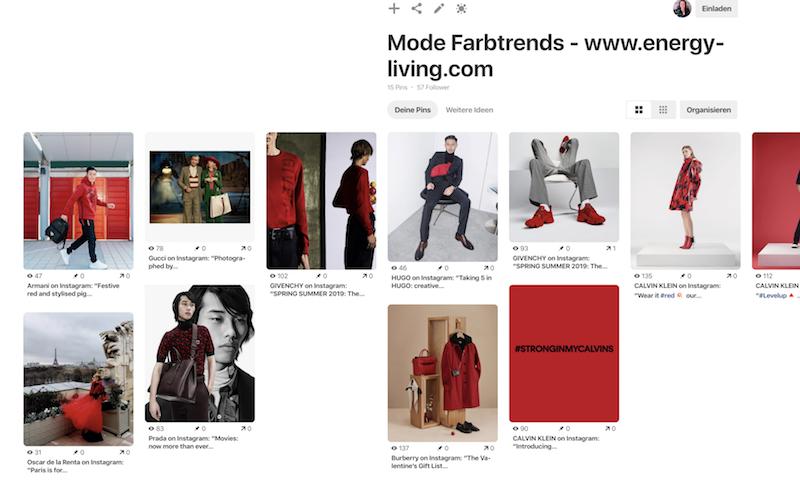 rot schwarz Trendfarbe Trendfarben 2019 Pinterest