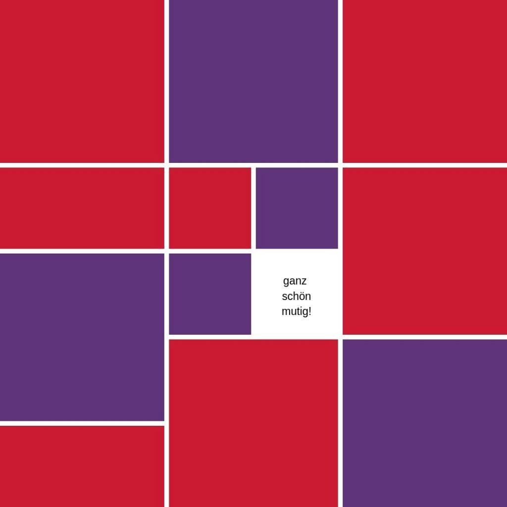 Farbe lila rot