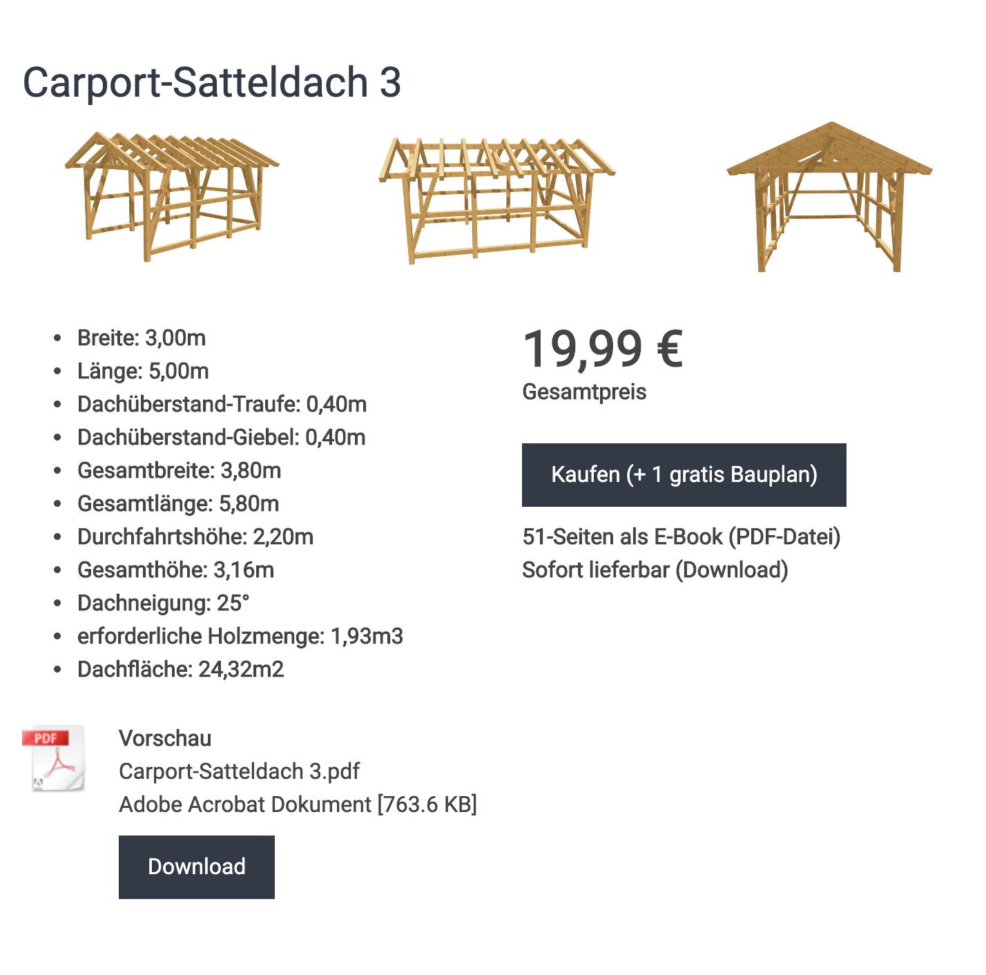 Bauplan_Carport_Satteldach_3