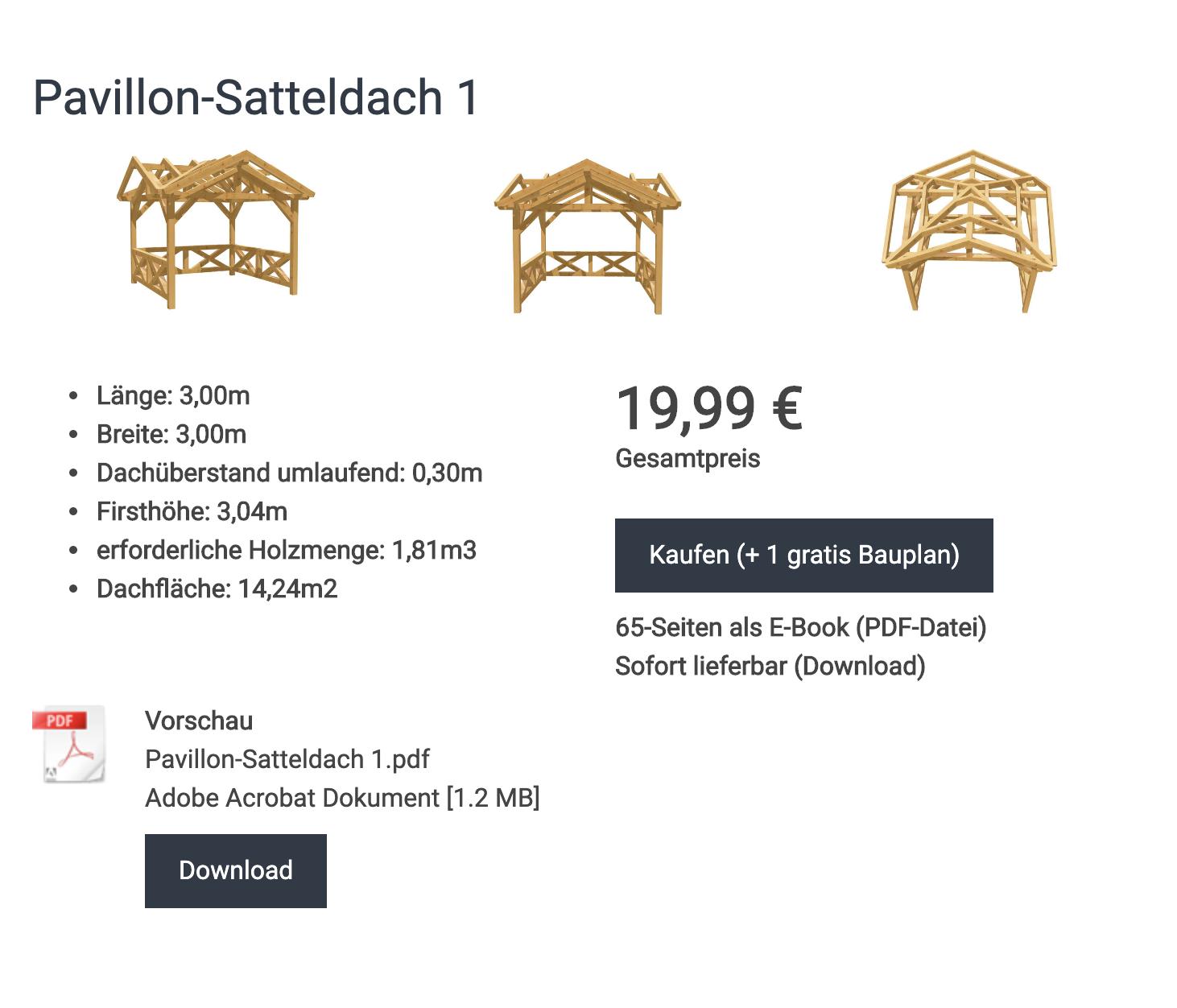 Bauplan_Pavillon_Satteldach_1