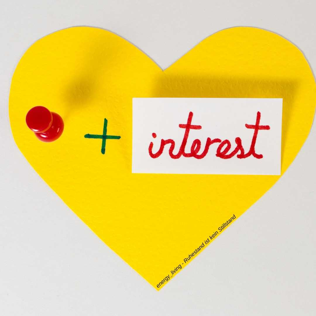Pinterest Herz Pin gelb rot interest